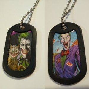 JOKER Double Sided Dog Tag W Chain